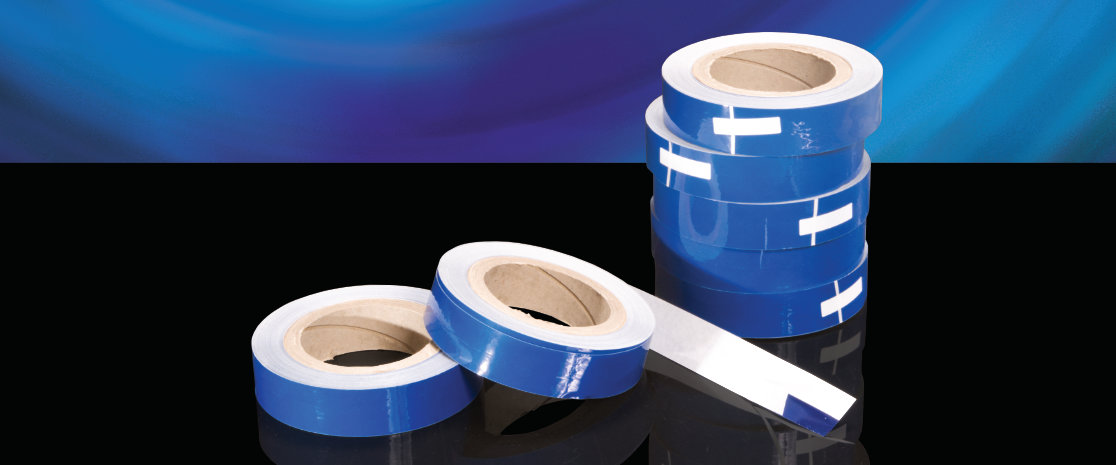Back-slit release liner adhesive tapes.